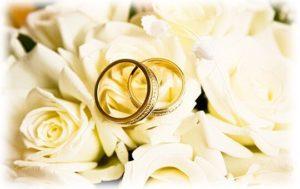 обручальные кольца на розах
