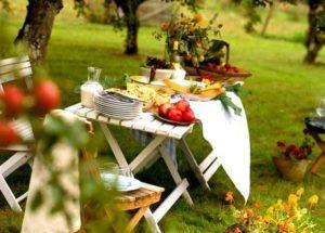 летний стол