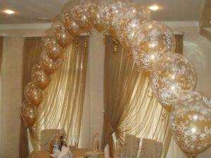 золотистые воздушные шары