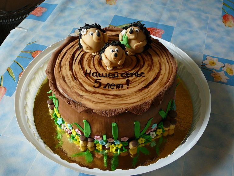 Торт на деревяннаую свадьбу