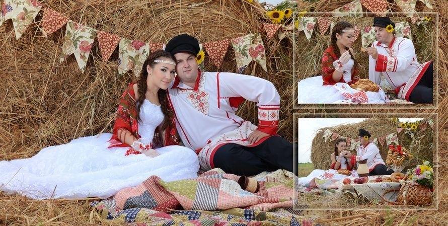 Парень и девушка на сеновале